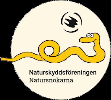 Natursnokarnas logga med maskoten Snoken och texten Naturskyddsföreningen Natursnokarna